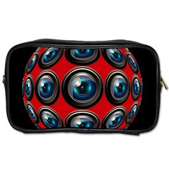 Camera Monitoring Security Toiletries Bags 2-Side