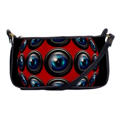 Camera Monitoring Security Shoulder Clutch Bags