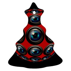 Camera Monitoring Security Christmas Tree Ornament (Two Sides)