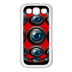 Camera Monitoring Security Samsung Galaxy S3 Back Case (White)