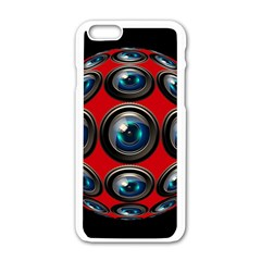 Camera Monitoring Security Apple iPhone 6/6S White Enamel Case
