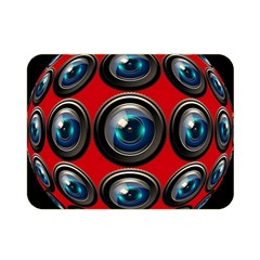 Camera Monitoring Security Double Sided Flano Blanket (Mini)