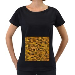 Camo Women s Loose-Fit T-Shirt (Black)