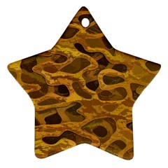 Camo Star Ornament (Two Sides)