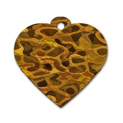 Camo Dog Tag Heart (Two Sides)