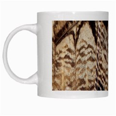 Butterfly Wing Detail White Mugs