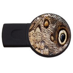 Butterfly Wing Detail USB Flash Drive Round (2 GB)