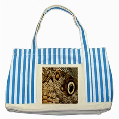 Butterfly Wing Detail Striped Blue Tote Bag