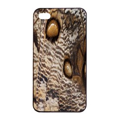 Butterfly Wing Detail Apple iPhone 4/4s Seamless Case (Black)