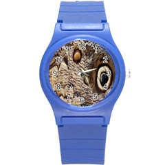 Butterfly Wing Detail Round Plastic Sport Watch (s)