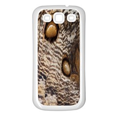 Butterfly Wing Detail Samsung Galaxy S3 Back Case (White)