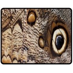Butterfly Wing Detail Double Sided Fleece Blanket (medium)