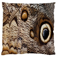 Butterfly Wing Detail Large Flano Cushion Case (Two Sides)