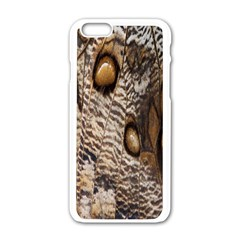 Butterfly Wing Detail Apple Iphone 6/6s White Enamel Case