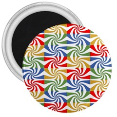 Candy Pattern  3  Magnets