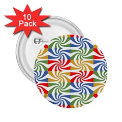 Candy Pattern  2 25  Buttons (10 Pack)