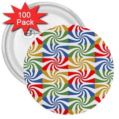 Candy Pattern  3  Buttons (100 pack)