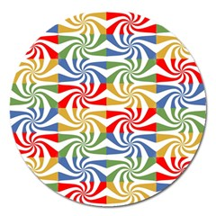 Candy Pattern  Magnet 5  (round)