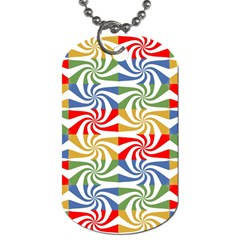 Candy Pattern  Dog Tag (One Side)