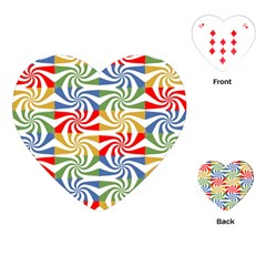 Candy Pattern  Playing Cards (Heart)