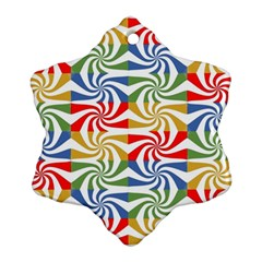 Candy Pattern  Snowflake Ornament (Two Sides)