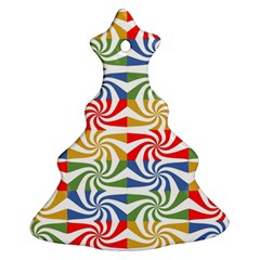 Candy Pattern  Christmas Tree Ornament (Two Sides)