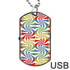 Candy Pattern  Dog Tag USB Flash (Two Sides)