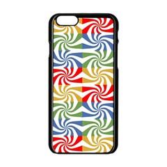 Candy Pattern  Apple iPhone 6/6S Black Enamel Case