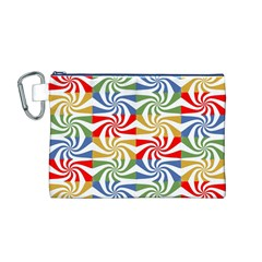 Candy Pattern  Canvas Cosmetic Bag (M)
