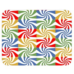 Candy Pattern  Double Sided Flano Blanket (Medium)