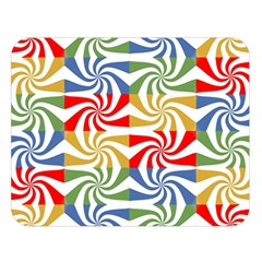 Candy Pattern  Double Sided Flano Blanket (Large)