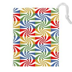 Candy Pattern  Drawstring Pouches (XXL)
