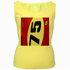 Car Auto Speed Vehicle Automobile Women s Yellow Tank Top