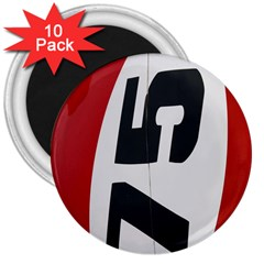 Car Auto Speed Vehicle Automobile 3  Magnets (10 pack)