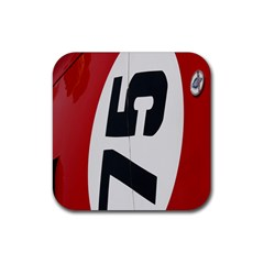 Car Auto Speed Vehicle Automobile Rubber Square Coaster (4 pack)