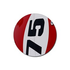 Car Auto Speed Vehicle Automobile Rubber Round Coaster (4 pack)