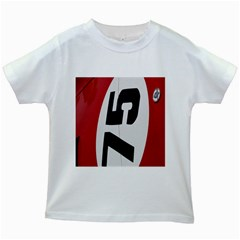 Car Auto Speed Vehicle Automobile Kids White T Shirts
