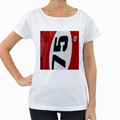 Car Auto Speed Vehicle Automobile Women s Loose-Fit T-Shirt (White)