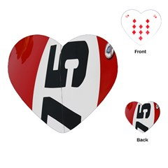 Car Auto Speed Vehicle Automobile Playing Cards (heart)