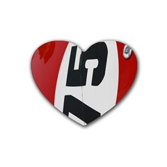 Car Auto Speed Vehicle Automobile Heart Coaster (4 pack)