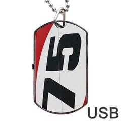 Car Auto Speed Vehicle Automobile Dog Tag USB Flash (One Side)
