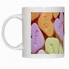 Candy Pattern White Mugs