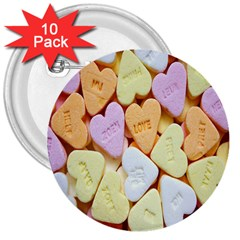 Candy Pattern 3  Buttons (10 Pack)