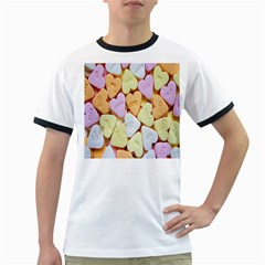 Candy Pattern Ringer T-Shirts