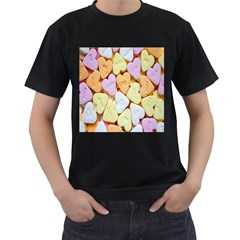 Candy Pattern Men s T Shirt (black) (two Sided)