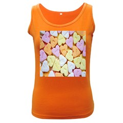 Candy Pattern Women s Dark Tank Top