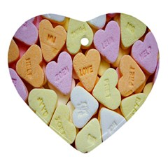 Candy Pattern Heart Ornament (Two Sides)