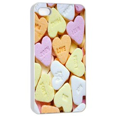Candy Pattern Apple iPhone 4/4s Seamless Case (White)