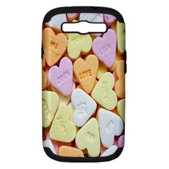Candy Pattern Samsung Galaxy S III Hardshell Case (PC+Silicone)