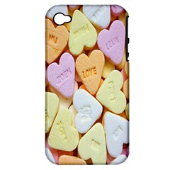 Candy Pattern Apple iPhone 4/4S Hardshell Case (PC+Silicone)